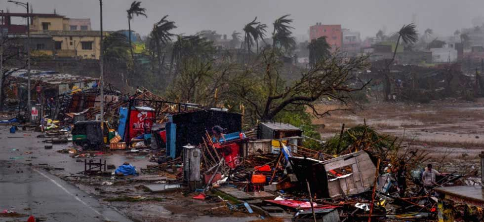 A cyclone-ravaged area in Odisha (PTI Photo)