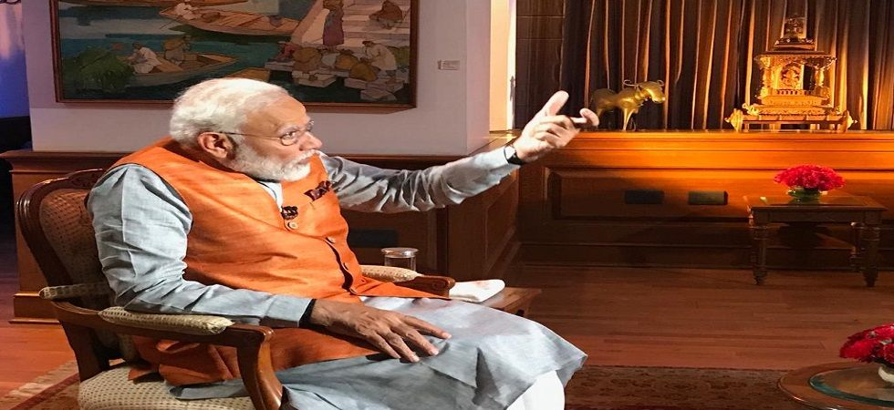 Prime Minister Narendra Modi during an exclusive interview with News Nation