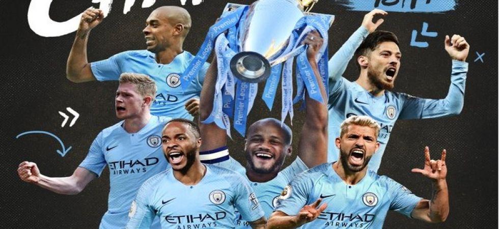 Manchester City win Premier League title, beat Brighton 4-1