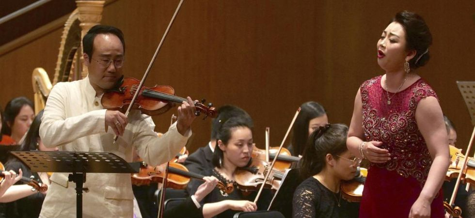 North, South Korean musicians perform together in China (Photo Credit: Twitter)