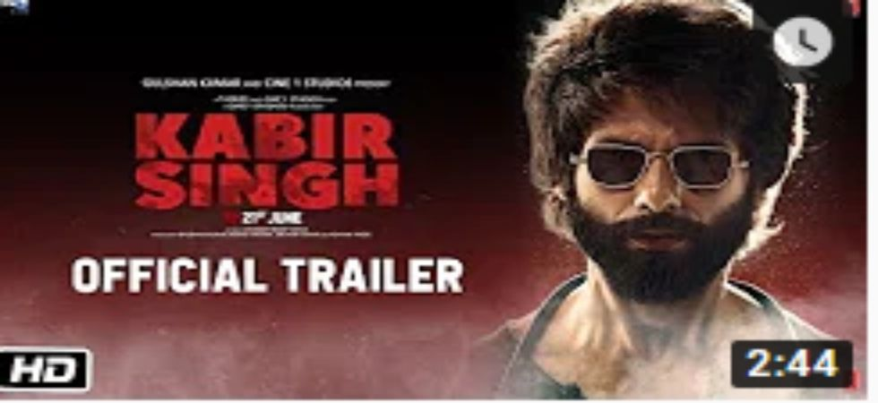 Shahid Kapoor starrer Kabir Singh trailer out!