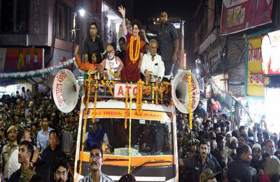 After show of strength in Varanasi, Priyanka Gandhi attacks 'magroor' Modi government