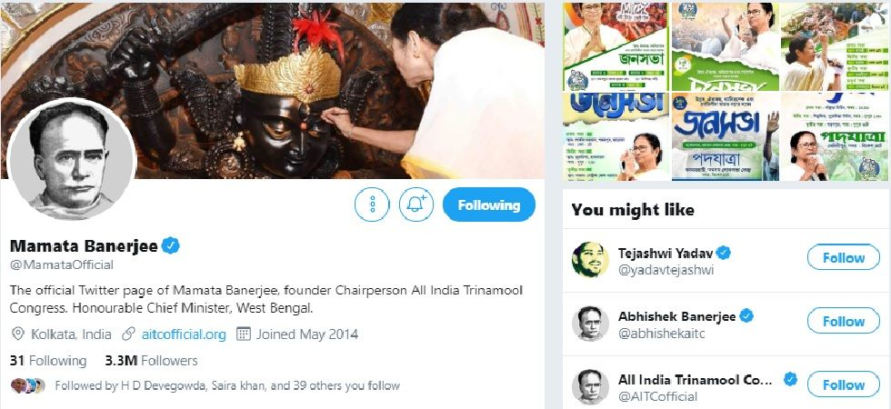 The Trinamool Congress' official profile on Twitter and Facebook was also changed to display the picture Vidyasagar. (Photo: Twitter/Mamata Banerjee)