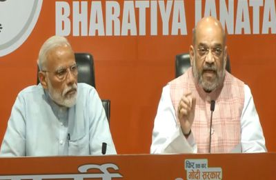 At maiden presser, PM directs all questions to Amit Shah; Congress says 'showing up is half the battle'