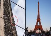 Eiffel Tower evacuated after climber spotted on monument in Paris