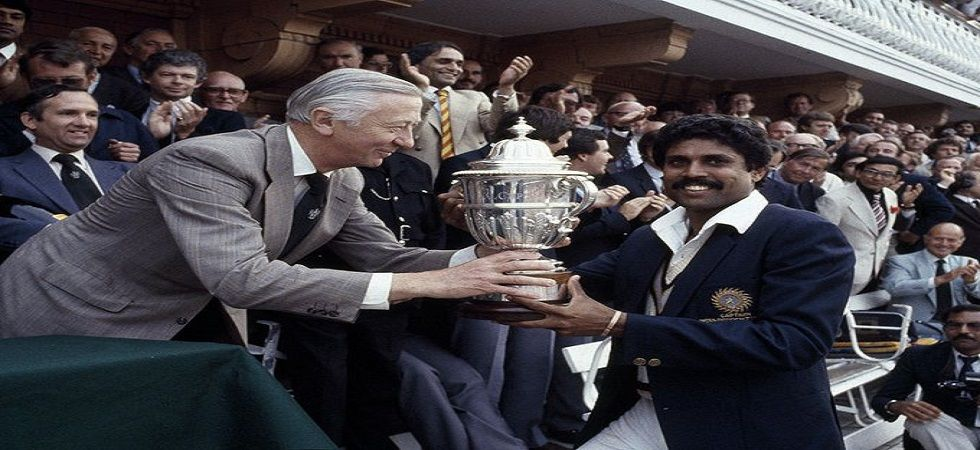 Kapil Dev's Indian cricket team created history as they defeated two-time champions West Indies in the 1983 World Cup final at Lord's to win the trophy for the first time. (Image credit: ICC Twitter)