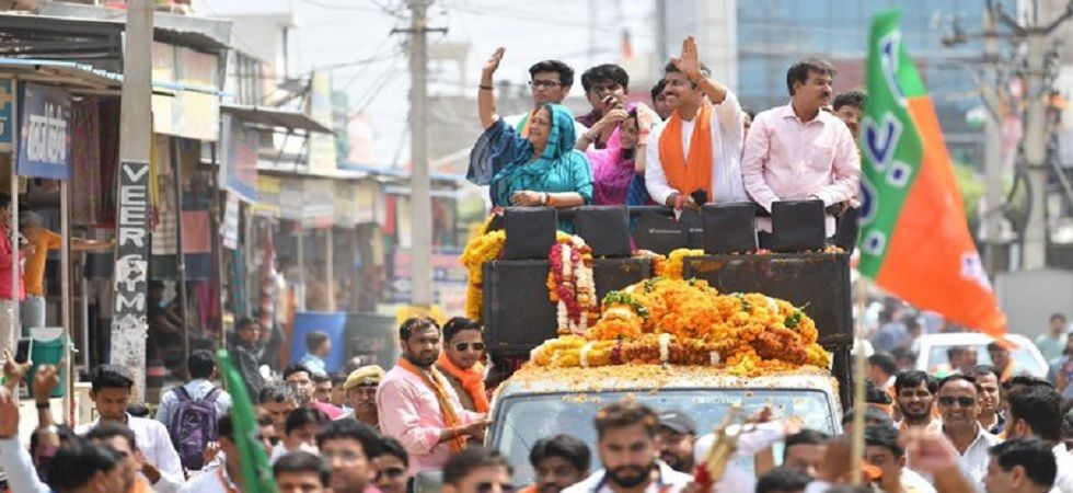 BJP swept the Lok Sabah elections in the desert state of Rajasthan by winning all the 25 seats.  (Photo: Twitter/@VasundharaBJP)