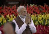 Narendra Modi addresses NDA lawmakers in Parliament's Central Hall