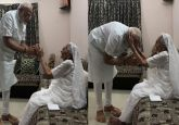 PM Modi meets mother Heeraben Modi at Gandhinagar residence, seeks blessings
