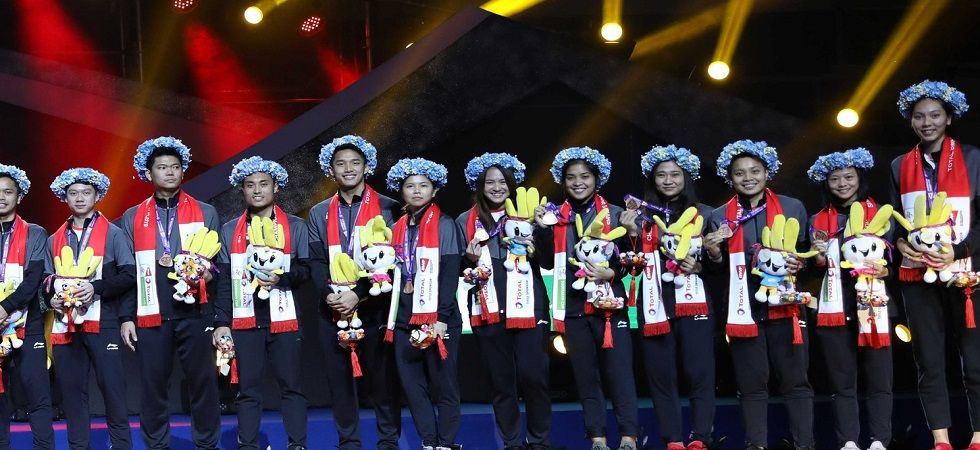 China have won their 11th Sudirman Cup badminton tournament after they whitewashed Japan in the final, with Shi Yuqi winning against world champion Kento Momota. (Image credit: Twitter)