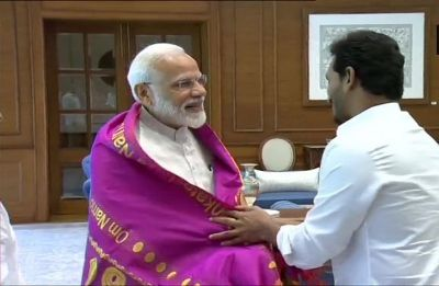After spectacular win, Jagan Reddy meets Narendra Modi, discusses special category status for Andhra