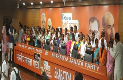 2 Trinamool MLAs, 1 from Left; over 50 councillors join BJP in Delhi