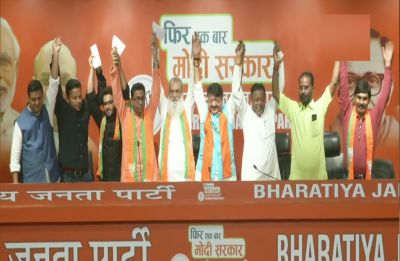 Another Trinamool Congress legislator Manirul Islam joins BJP in presence of Mukul Roy