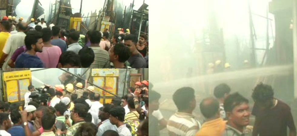 fire breaks out in Kolkata's Park Circus area (Photo Credit: ANI)