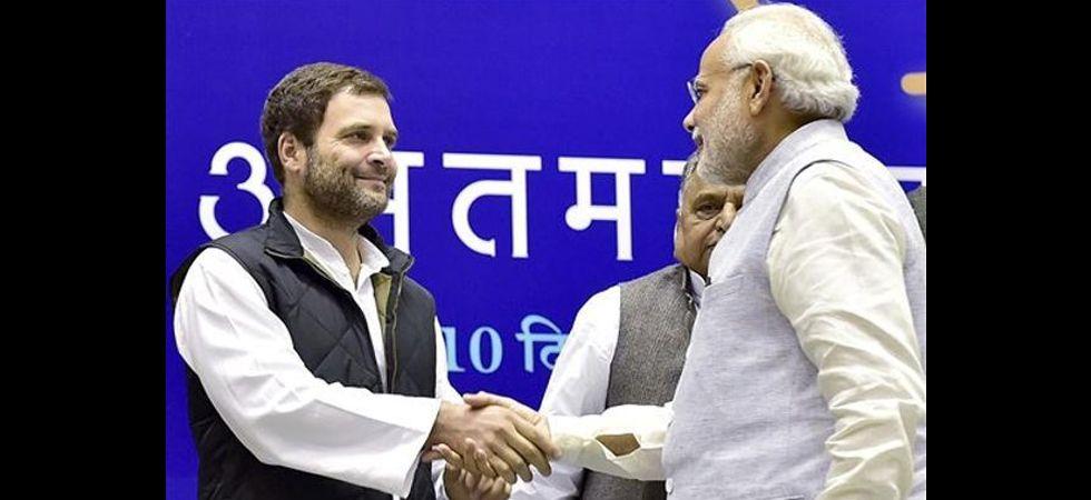Congress president Rahul Gandhi and Prime Minister Narendra Modi