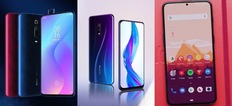 Redmi K20 vs Realme X vs OnePlus 7 (Photo Credit: Twitter)