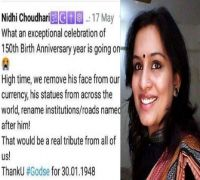 IAS officer Nidhi Choudhari, who posted controversial tweet on Mahatma Gandhi, transferred