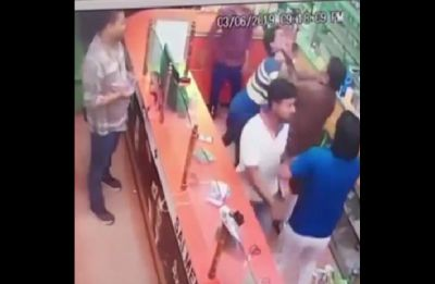BJP leader's brother assaults chemist for 'not standing up', hooliganism caught on camera