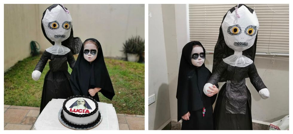 Three-year-old throws a 'Conjuring' themed birthday (Photo: Twitter\@dreeaaxo_)