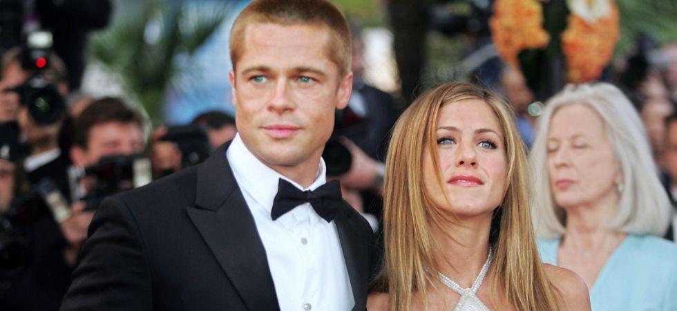 Jennifer Aniston and Brad Pitt.