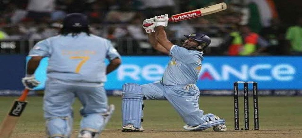 Yuvraj Singh blasted six sixes in one over as India defeated England in the 2007 World T20 clash in Durban. (Image credit: Twitter)
