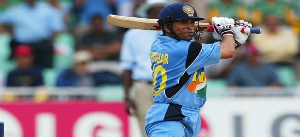 Sachin Tendulkar blasted 98 off 75 balls as India continued their winning run in the World Cup against Pakistan in the 2003 edition in Centurion with a six-wicket win. (Image credit: Twitter)