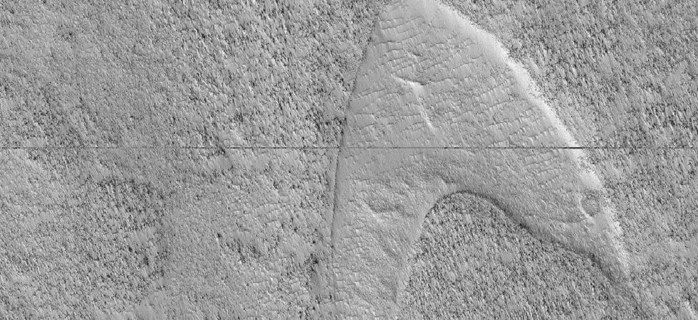 The dune feature is located in Hellas Planitia, a large plain within the Hellas impact basin in the southern hemisphere of Mars.