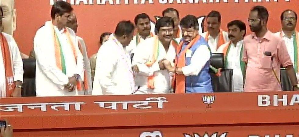 Trinamool MLA Biswajit Das today joined the BJP.  (Image Credit: ANI)