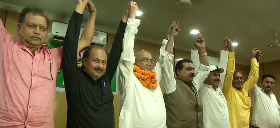 RJD Jharkhand chief Gautam Sagar Rana along with other party members today formed Rashtriya Janata Dal Loktantrik. (Image Credit: ANI)