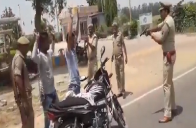Viral VIDEO | Hands up! Badaun Police is to frisk you at gun point