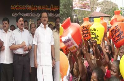 Chennai Water Crisis: DMK stages protest against ruling AIADMK, submits notice in Lok Sabha