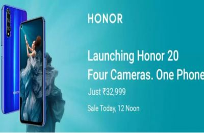 Honor 20 to go on sale via Flipkart today at 12 pm: Specs, price inside