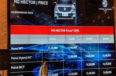 MG Hector India Launch Updates: SUV launched at an introductory price of Rs 12.18 lakhs