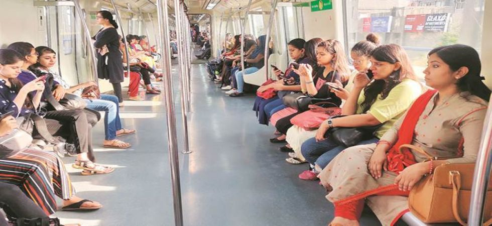 Women travelling by Delhi metro (File Photo)