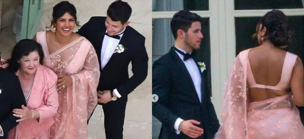 Priyanka and Nick at Sophie and Joe Jonas wedding.