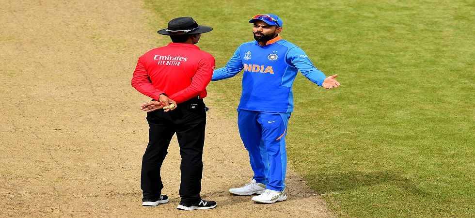 Virat Kohli argued with the umpires over the controversial DRS against Soumya Sarkar which went against India. (Image credit: Getty Images)