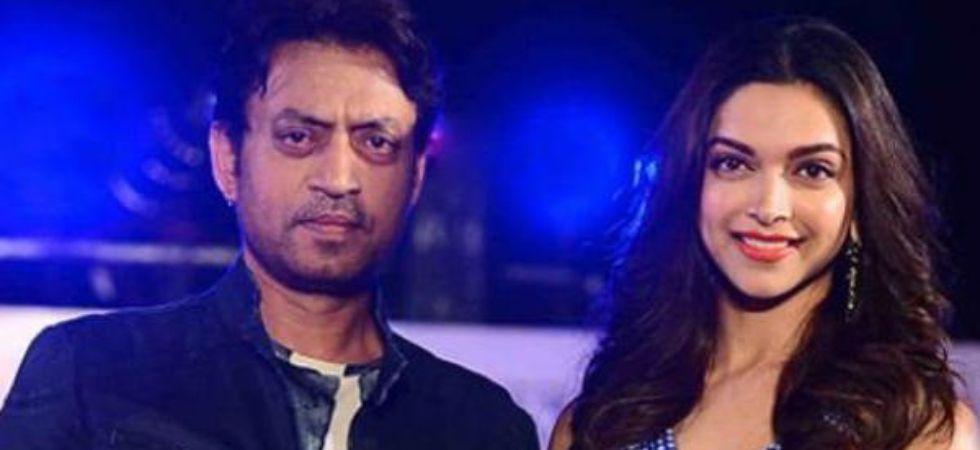 Deepika Padukone meets Irrfan Khan in London.