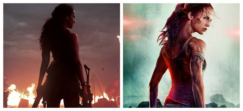 Kangana's 'Dhaakad' poster and Alicia Vikander 's 'Tomb Raider'(Photo: Instagram)
