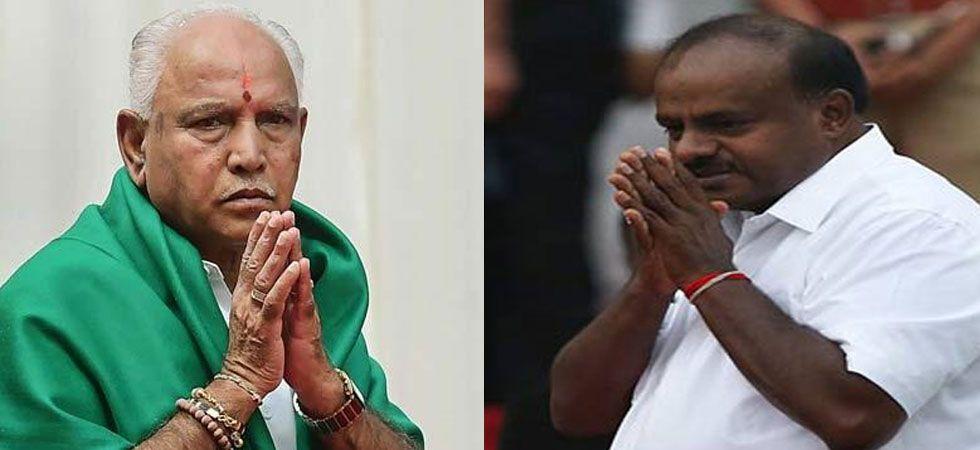 BS Yeddyurappa and HD Kumaraswamy. (Image Credit: ANI)