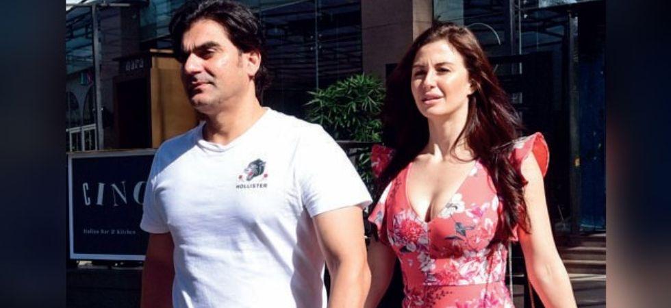 Arbaaz Khan and girlfriend Giorgia Andriani. (Image: Instagram)