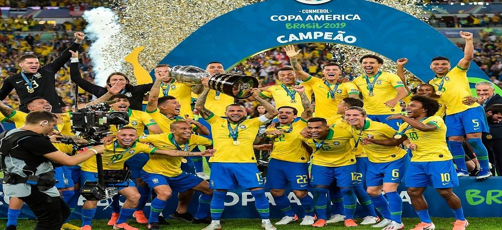 Brazil won the Copa America title for the ninth time thanks to goals from Gabriel Jesus, Richarlison and Everton Soares. (Image credit: Twitter)