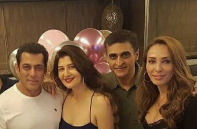 In Pics: Salman Khan rings in ex-flame Sangeeta Bijlani's 54th birthday with GF Iulia Vantur