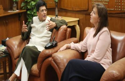 Walmart President and CEO Judith McKenna meets Commerce and Industry Minister Piyush Goyal