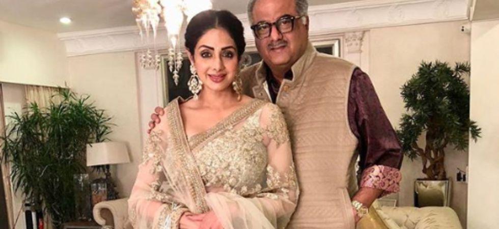 Sridevi with Boney Kapoor.