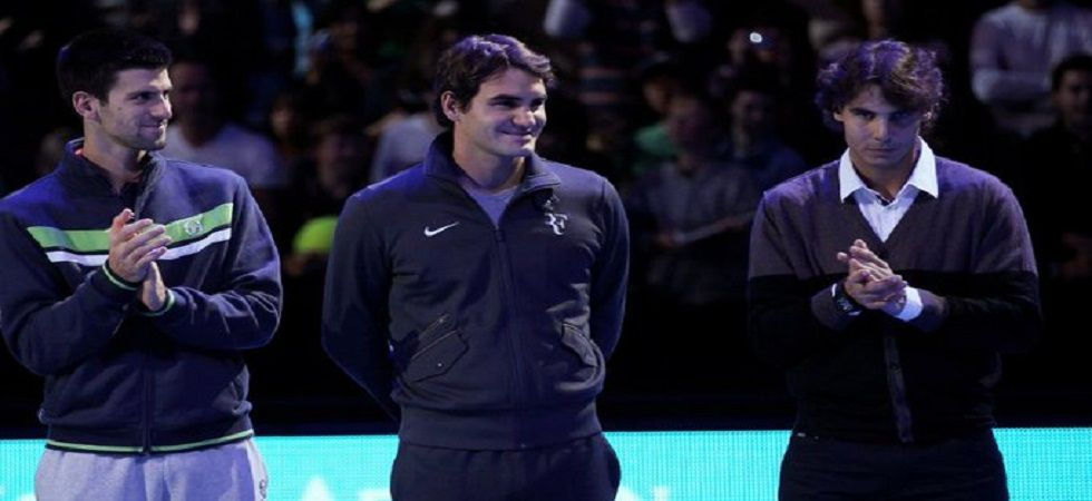 Roger Federer, Rafael Nadal and Novak Djokovic have won the last 11 majors, 15 of the last 17 and 54 of the last 65. (Image credit: Twitter)
