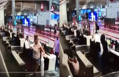 Viral Video: Woman boards luggage belt thinking it would take her to plane