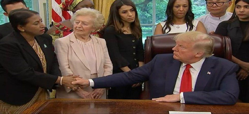 Bangladeshi Hindu woman Priya Saha meets US President Donald Trump