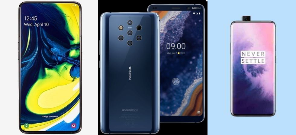 Galaxy A80 Vs Nokia 9 PureView Vs OnePlus 7 Pro (Photo Credit: Twitter)
