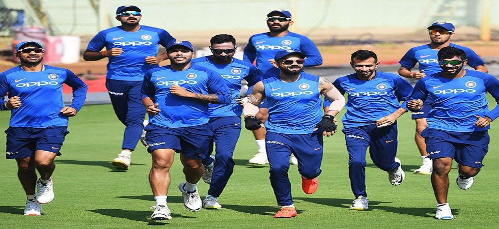 Indian team training before the start of the game (Image Credit: Twitter)