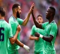 Karim Benzema scores hat-trick, Real Madrid beat Fenerbahce to dispel gloom